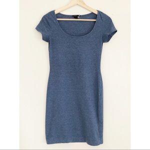 H&M Basic Light Blue T-Shirt Scoop Neck Mini Dress